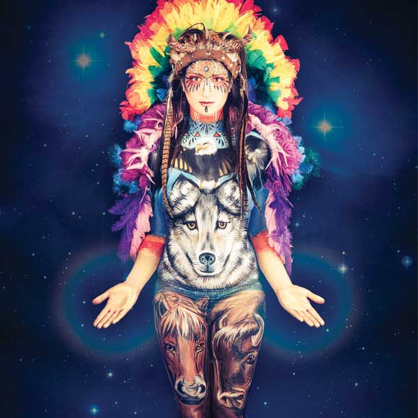 Rainbow warrior using Mistair paints
