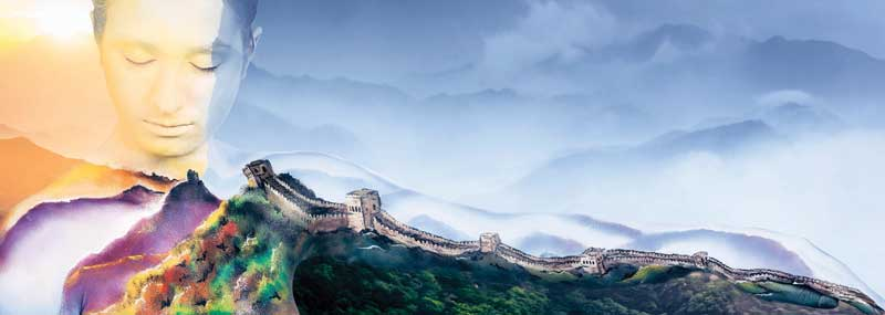 Great wall of China fine art dreamscape