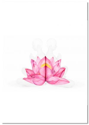Yoga Lotus print