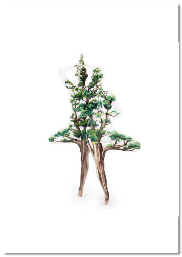Yoga Peepul tree print