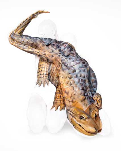 Alligator image as part of a National lottery commission for Team GB at the Rio Olympics