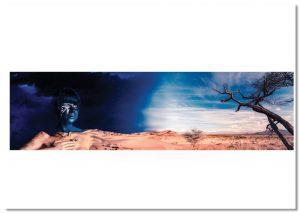 Eye of Horus landscape print