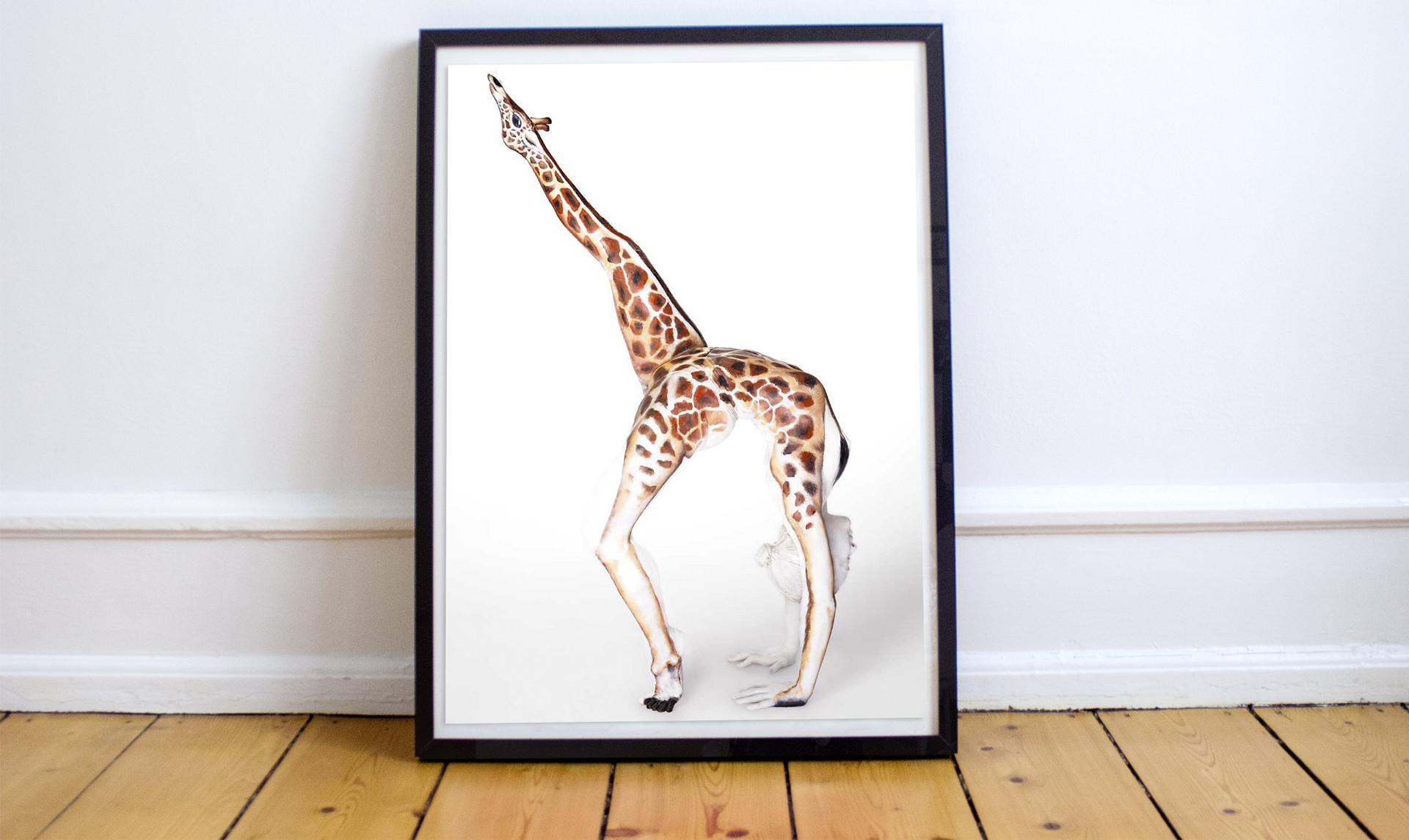 Framed giraffe print